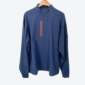 NWT FootJoy  Wind Tech Pullover Navy Red XL